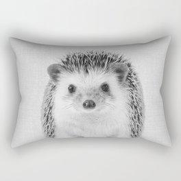 Hedgehog - Black & White Rectangular Pillow