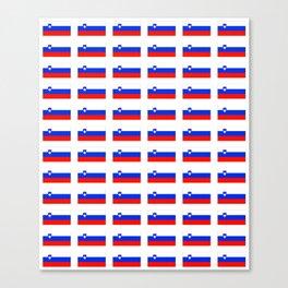 flag of slovenia - slovenia, slovenian,Slovene, Slovenija,Ljubljana,yugoslavia. Canvas Print