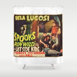 Spooks Run Wild, Bela Lugosi, vintage movie poster Shower Curtain