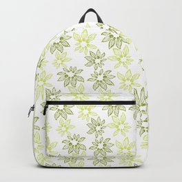 Abstract flowers with tiny beads Backpack