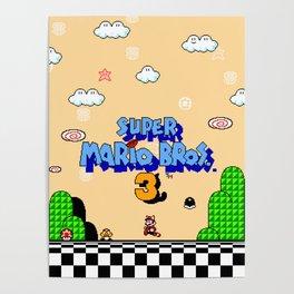 Super Mario Bros. 3 Title Screen Poster