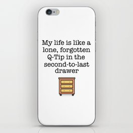 Carrie Fisher Q-Tip Quote iPhone Skin