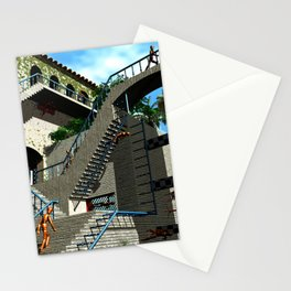 Optical Illusion - Tribute to Escher Stationery Cards