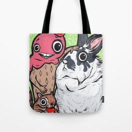 Lionhead Rabbit Friends Tote Bag