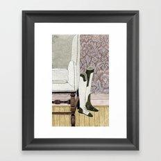 Equestrian Boots Framed Art Print