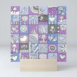 Inchie Doodle Design - Lavender Blue - Spring Mini Art Print