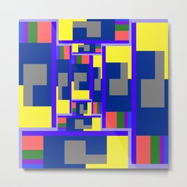 Mid-20th Century Abstraction, Hall of Mirrors Metal Print