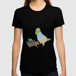 Hipster Dinosaur Instagrams his Vegan Lunch T-shirt