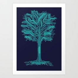 Trunklines Art Print