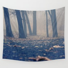 Foggy Morning Wall Tapestry