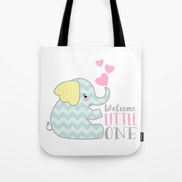 Baby Elephant - Welcome Little One Tote Bag