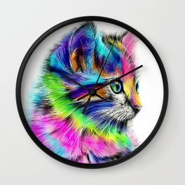 CAT--FluO Wall Clock