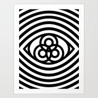third eye Art Prints featuring Third Eye by cmyka