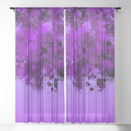 paint splatter on gradient pattern dp Sheer Curtain
