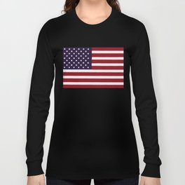 American flag with painterly treatment Long Sleeve T-shirt