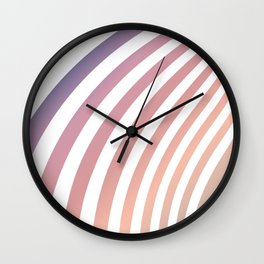 Soft pastel abstract lines Wall Clock