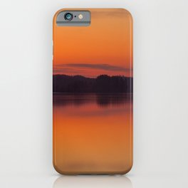 Evening Lakescape Orange Sunset Sky Reflection #decor #society6 #buyart iPhone Case