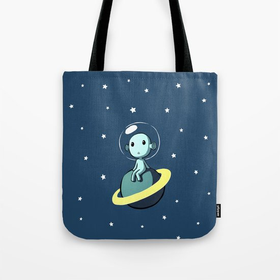 Space Alien Tote Bag