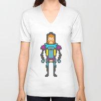 8bit V-neck T-shirts featuring 8bit beard! by Dario Di Donato