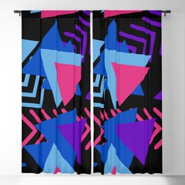 memphis pattern geometric abstract Blackout Curtain