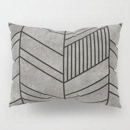 Concrete Chevron Pattern Pillow Sham