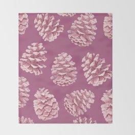 Blushing Deep Pine Cones Throw Blanket