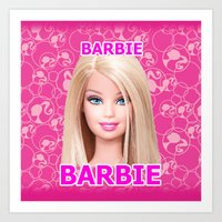 barbie Art Prints featuring Barbie by Maxvision