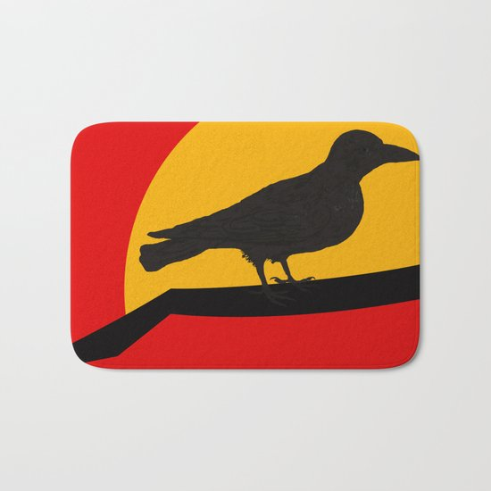 Every bird sings from his own throat Bath Mat