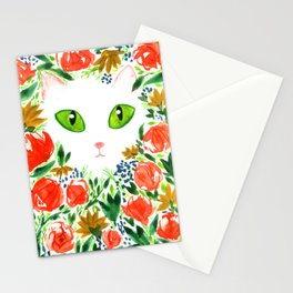Cat Flor / Art Print / Jungle Cat Stationery Cards