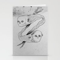 mermaids Stationery Cards featuring mermaids by Julio Dolbeth