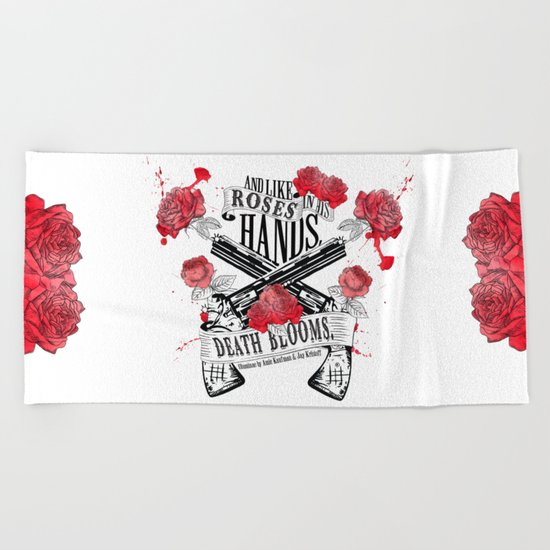 Illuminae - Death Blooms Beach Towel