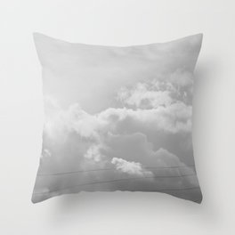 Heavenly in black and white Throw Pillow