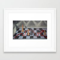 chess Framed Art Prints featuring Chess by Lark Nouveau Studio