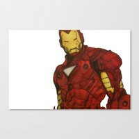 iron man Canvas Prints featuring Iron Man by DeMoose_Art