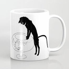 """Théophile Steinlen """"Cats: Pictures without Words (Cat and fishbowl)"""" (1) Coffee Mug"""