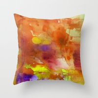 rose gold Throw Pillows featuring Rose Gold  by ariesmoon