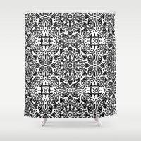 oriental Shower Curtains featuring Oriental Pattern by LebensARTdesign
