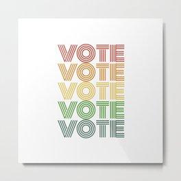 Vote Shirt Gift Vintage Retro Election 2020 Voter Metal Print