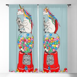 Unicorn Gumball Poop Blackout Curtain