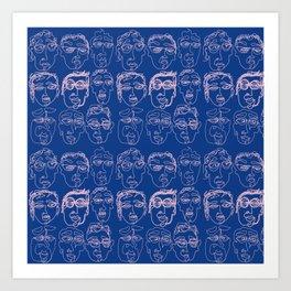 'Las Caras' Face Pattern Art Print