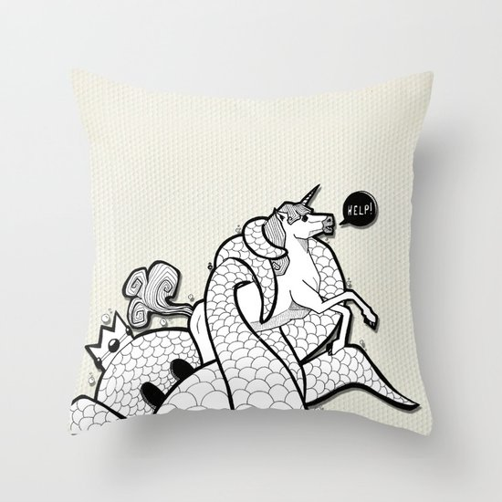 I hate Unicorn Throw Pillow