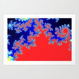 Mandelbrot Fractals 6 Tiles Art Print