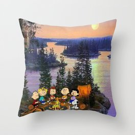 Snoopy and Friend Throw Pillow