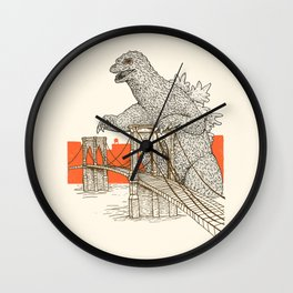 Godzilla vs. the Brooklyn Bridge Wall Clock