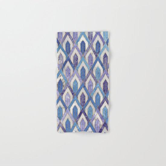 Art Deco Marble Pattern III. Hand & Bath Towel