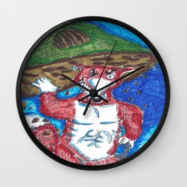 Moving House 2 Wall Clock