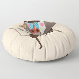 Baboon & Coffee Floor Pillow