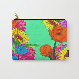 SpringFloral Carry-All Pouch
