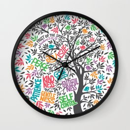 Fruit Of The Spirit (Full Color) Wall Clock