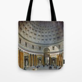 Interior of the Pantheon, Rome by Giovanni Paolo Panini Tote Bag